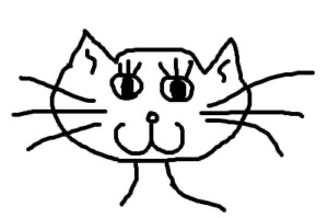 HappyCatFaceDrawing
